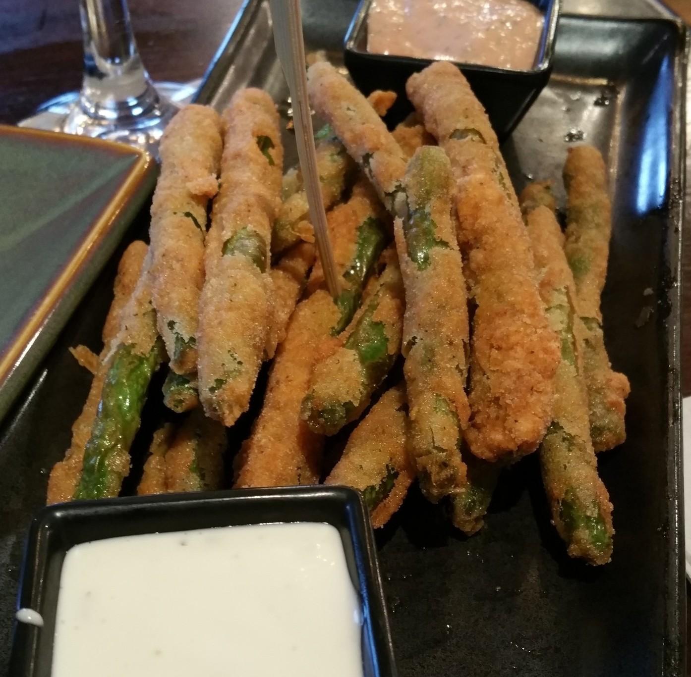 GF Fried Asparagus NOMNOM